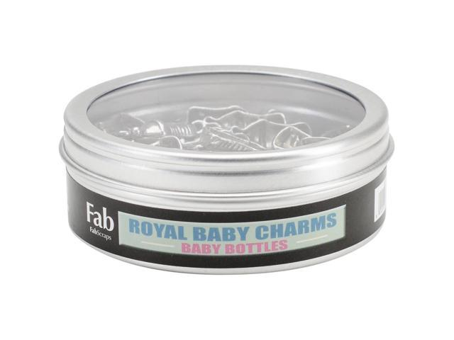 Silver Embellishments 30/Pkg-Baby Bottle