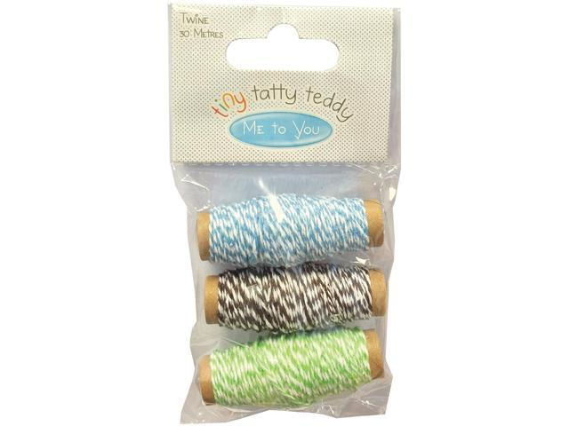 Tiny Tatty Teddy Butcher's Twine 3/Pkg-Boy