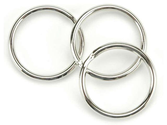 Nickel Split Key Rings-1.25