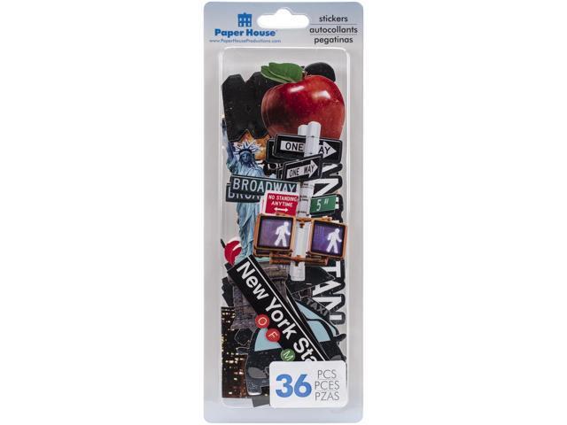 Paper House Die-Cut Sticker Pack 36/Pkg-New York City