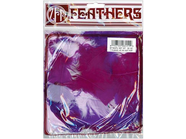 Turkey Plumage Feathers .5oz-Purple
