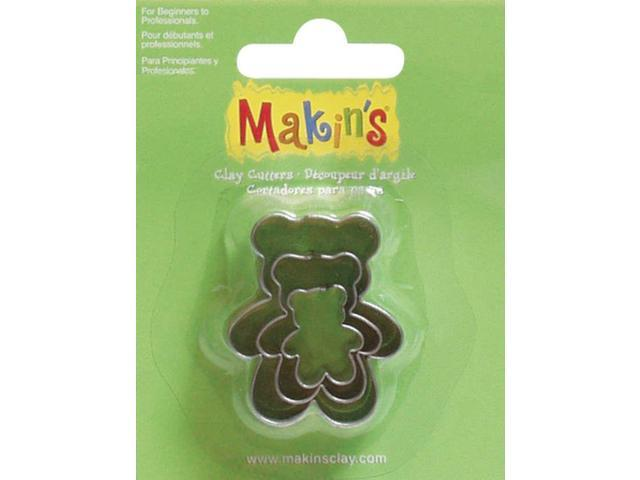 Makin's Clay Cutters 3/Pkg-Teddy Bear
