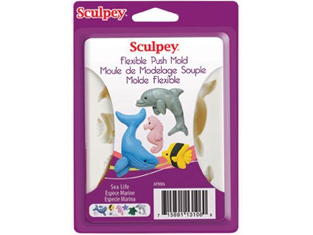 Sculpey Flexible Push Mold-Sea Life