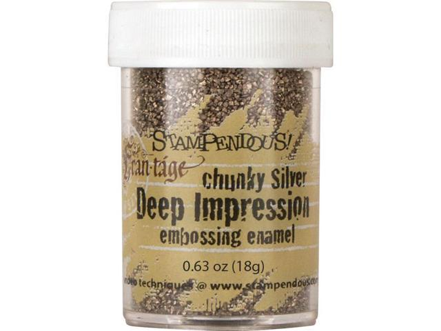 Stampendous Deep Impression Embossing Enamel .63Oz -Chunky Silver
