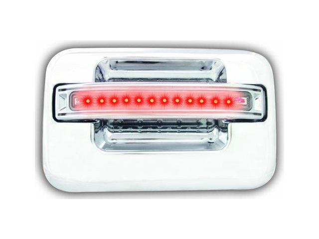 IPCW FLR04CR Ford F150, F250 Ld 2004 - 2008 LED Door Handle, Rear, Chrome Red Led, Clear Lens 2Ps. Per Set