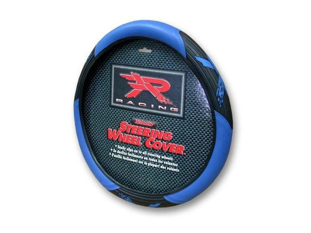 Plasticolor 6342 Blue R Racing Velocity Style Steering Wheel Cover