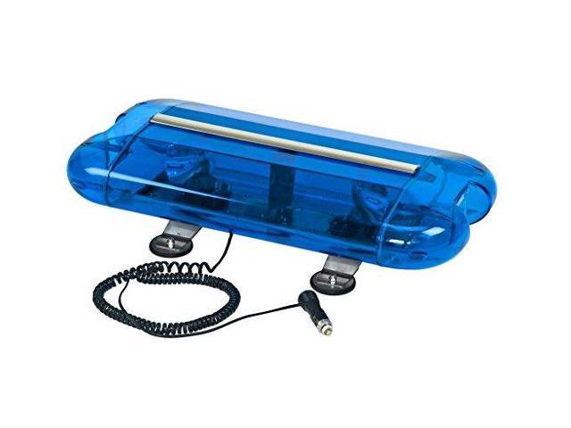 WOLO 3555M-B Mini Lightbar, Halogen, Blue, Magnet, 24 In