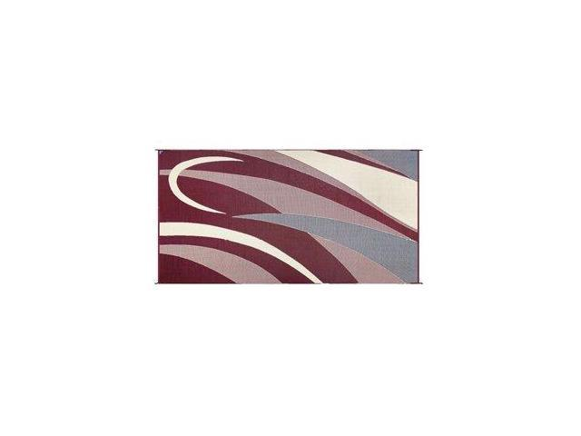 Ming'S Mark Gb5 Burgundy/Black 8' X 16' Graphic Reversible Mat