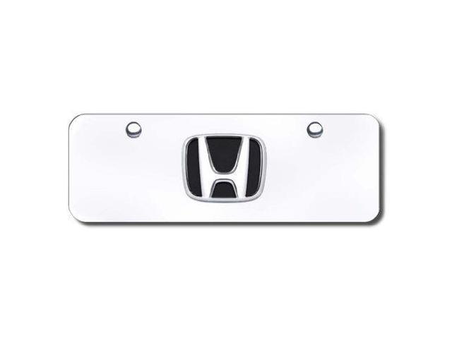 Auto Gold Honccm Chrome On Chrome License Logo Mini Plate, Honda