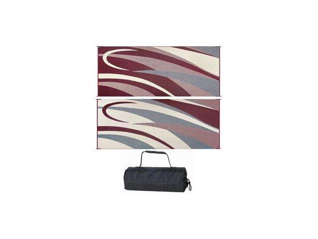 Ming'S Mark Gc5 Burgundy/Black 8' X 20' Graphic Reversible Mat