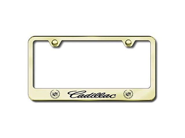 Auto Gold Lfcadeg Engraved Gold License Plate Frame, Cadillac