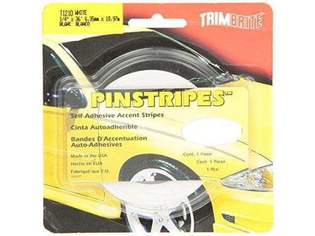 Trimbrite T1210 Trim Stripe 1/4 Pin White