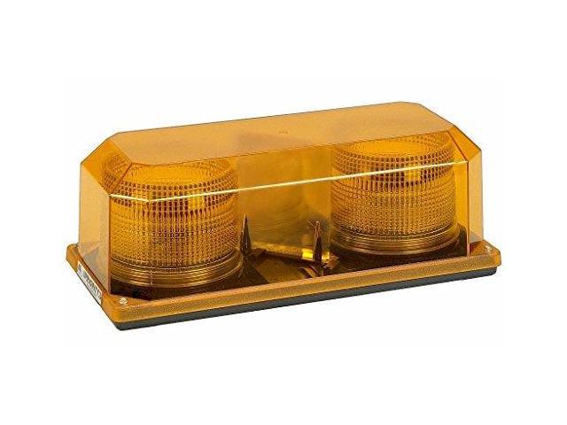 Wolo (3700P-A) Priority 2 Strobe Mini Light Bar - Amber Lens, Permanent Mount