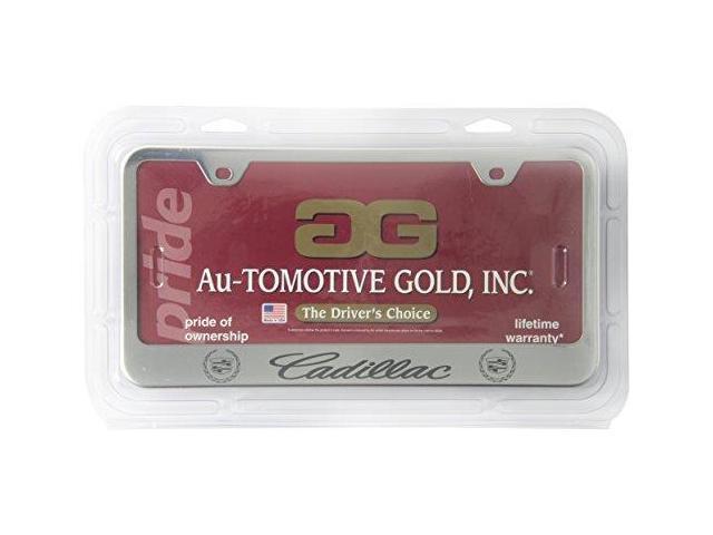 Auto Gold Lfcadec Cadillac Engrvd Chr Frame