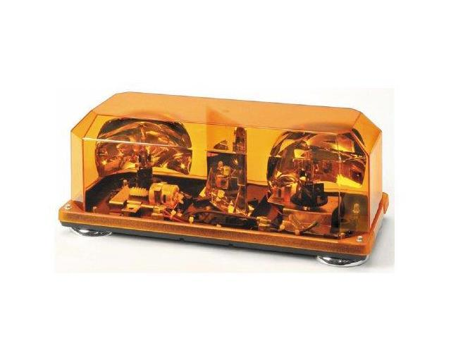 Wolo (3500M-A) Priority 1 Halogen Mini Light Bar - Amber Lens, Magnet Mount