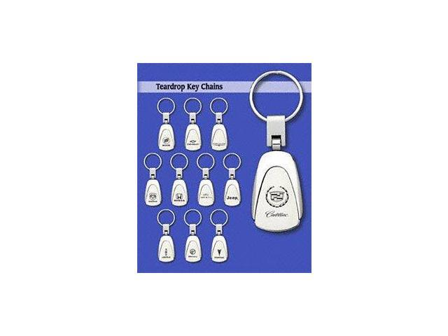 Auto Gold Kc3Vol Stainless Steel Key Chains, Teardrop Style, Volvo