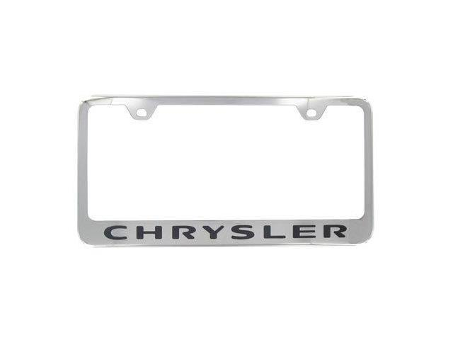 Auto Gold Lfchrec Engraved Chrome License Plate Frame, Chrysler