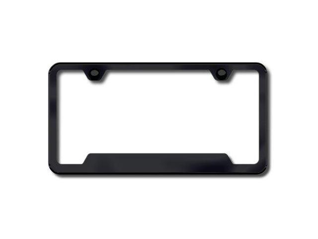 Auto Gold Lf462B Abs 2 Hole Plain Black License Plate Frame