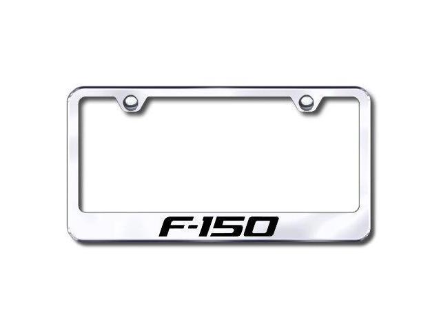 Auto Gold Lff15Ec Engraved Chrome License Plate Frame, F-150