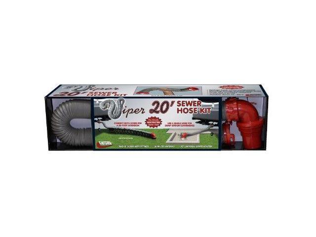 Valterra D04-0475 Gray 20' Viper Sewer Hose Kit