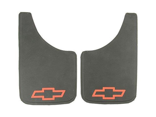 Plasticolor 000538R01 Chevy Red Bowtie Easy Fit Mud Guard - Set Of 2