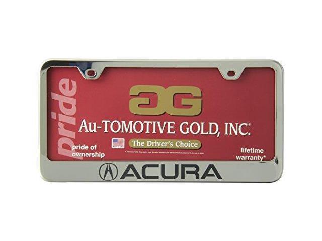 Auto Gold Lfacuec Acura Engraved Chr Frame
