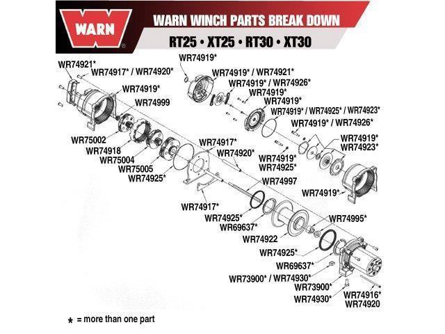 Warn 74925 (Mto) Kit_Seal_Winch_Rt/Xt