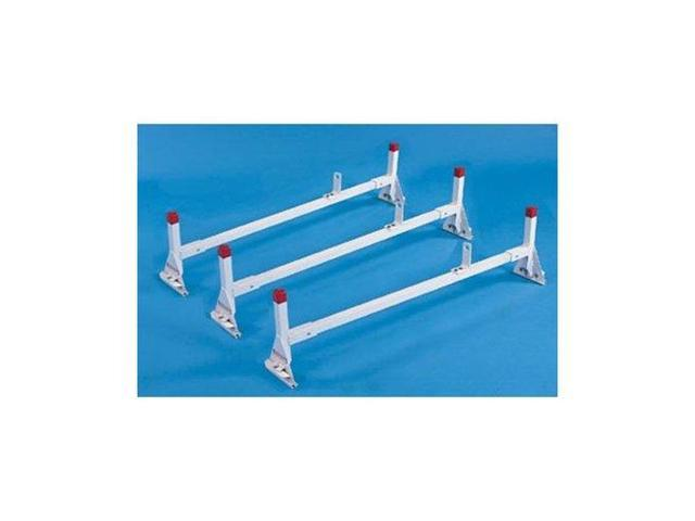Weather Guard 2293 All-Purpose White Powder Coated Aluminum Ladder Rack