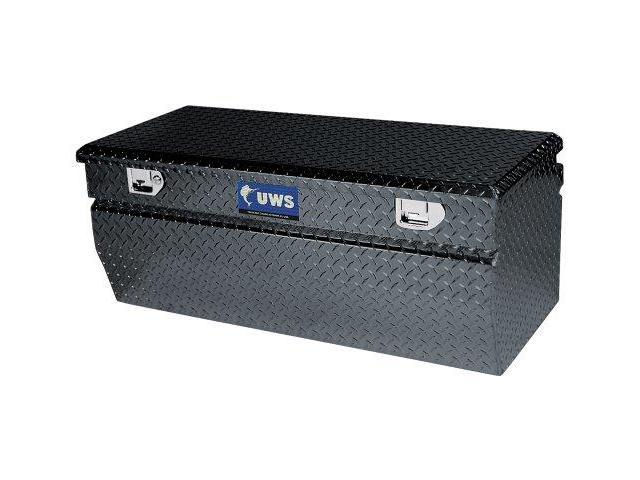 Uws Tbc-60-W-Blk Black Wedge Chest Aluminum Box With Beveled Insulated Lid