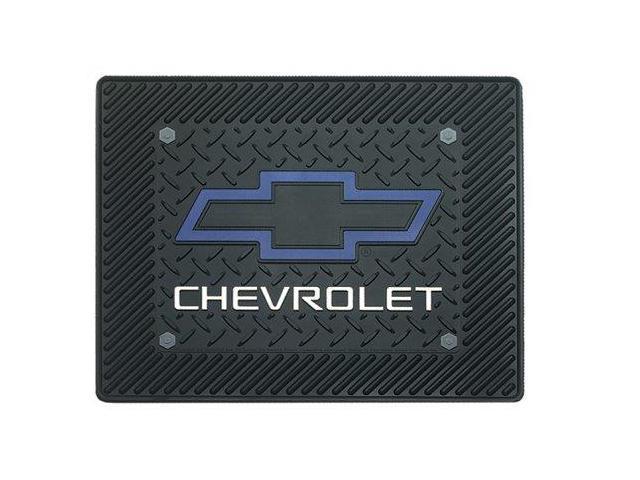 Plasticolor 001014R01 Chevy Blue Bowtie Utility Mat 14