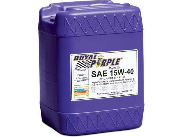 Royal Purple 5154 Multi-Grade Motor Oil Sae 15W40 Cj-4 5 Gal. Pail