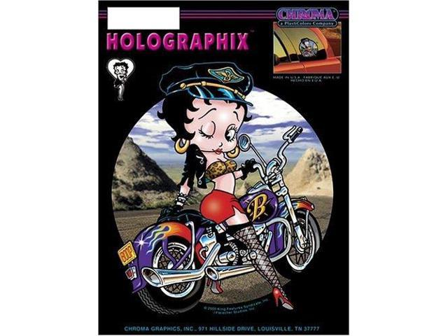 Betty Boop on Bike 6 x 8 Decal - Holographic