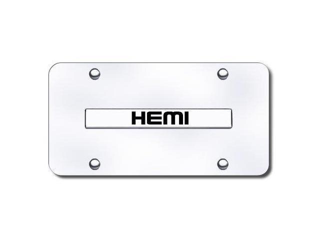 Auto Gold Hemncc Chrome On Chrome License Name Plate, Hemi
