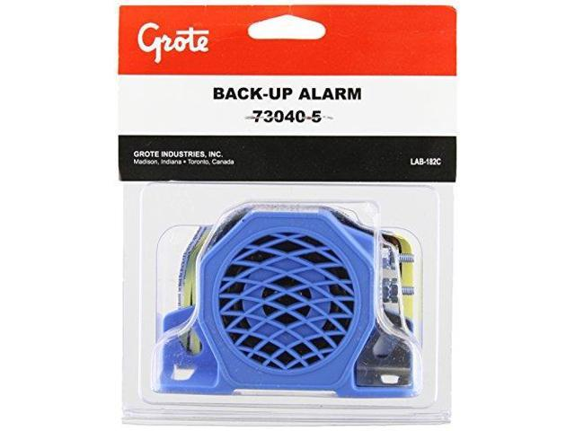 GROTE 73040-5 Back Up Alarm, 97dB, Blue, 3 In. H