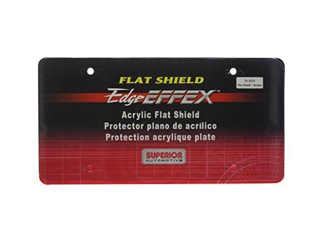 Superior Automotive 255470 Smoke License Plate Shield