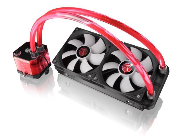 RAIJINTEK TRITON RED v02, All-In-One Liquid CPU Cooler with Pump, Water Block, Tank Design, 2* 12025 Fan, 2 LED Light, 240mm radiator, Fan Controller, Solid Mounting Kit