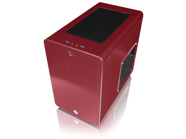 RAIJINTEK STYX RED, Alu Micro-ATX Case, Compatible With Regular ATX Power Supply, Max. 280mm VGA Card, 180mm CPU Cooler, Max. 240mm Radiator Cooling On Top,with A Drive Bay For Slim DVD On Side