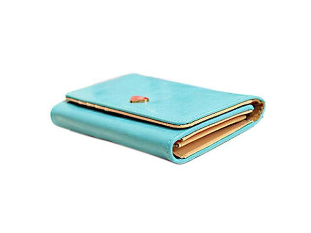 New Fashion Leather Women Wallet Travel Credit Card Package ID Storage Bag-blue