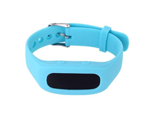 SH03 Light Weight Intelligent Bluetooth 4.0 Pedometer Bracelet Smart Activity Wristband Time/Calorie/Sleep Monitor for iPhone Android Smartphone - Blue