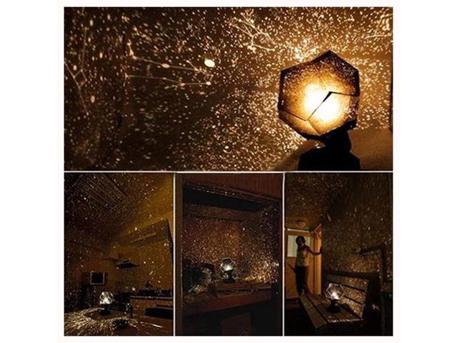 SODIAL Astro Star Sky Laser Cosmos DIY Star Night Light Lamp Projector  Galaxy Black