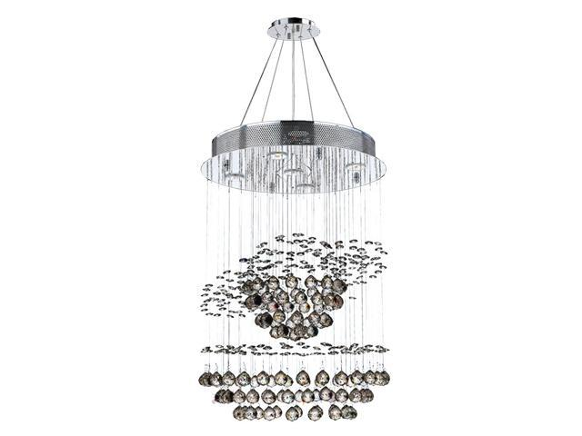 Helix collection 5 light chrome finish and clear crystal galaxy helix collection 5 light chrome finish and clear crystal galaxy chandelier clearance aloadofball Images
