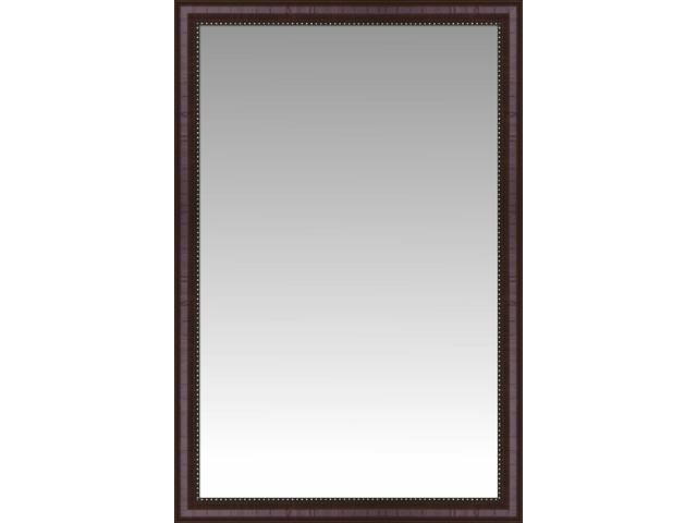Rustic mahogany tuscan large wall mirror portrait size for Large portrait mirror