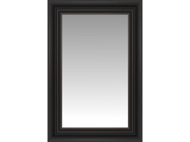 Dark brown havana large wall mirror portrait size 31 x for Large portrait mirror