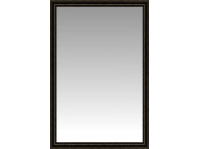 Black coffee pine prairie large wall mirror portrait for Large portrait mirror