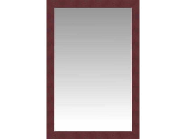 Cherry wood flat front large wall mirror portrait size for Large portrait mirror