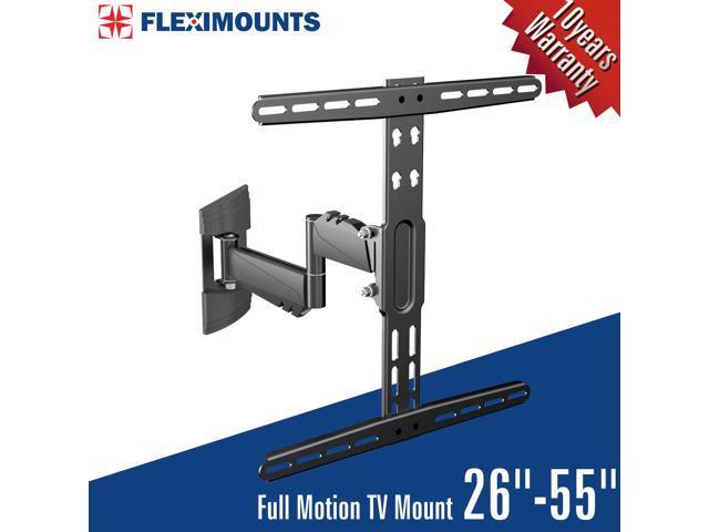 fleximounts a17 extended articulating arm swivel tilt lcd led tv wall mount bracket low profile. Black Bedroom Furniture Sets. Home Design Ideas