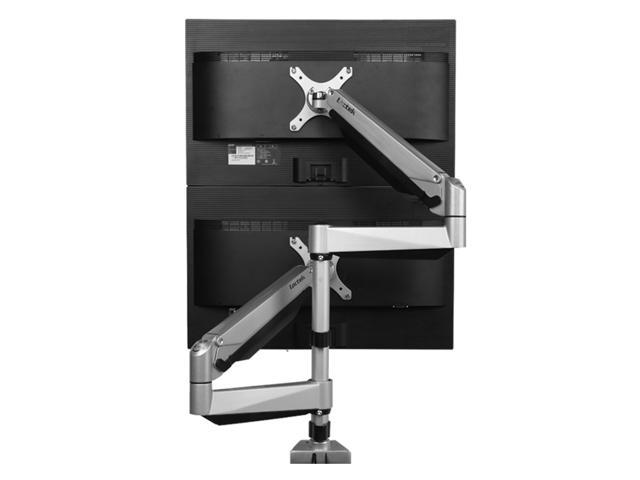 loctek d7sd dual lcd adjustable monitor stand dual stacking arm desk