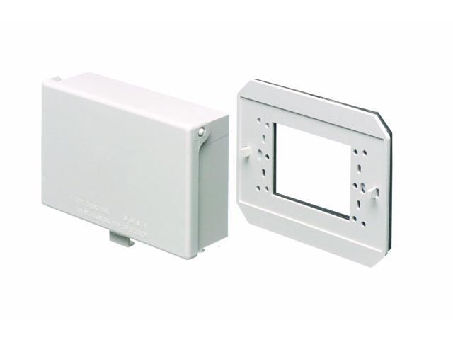 Arlington - Weather Proof Outlet Cover with Plate - Horizontal - White - 60HC