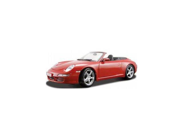 Red Porsche 911 Turbo Cabriolet 1:18 Scale Die Cast Car