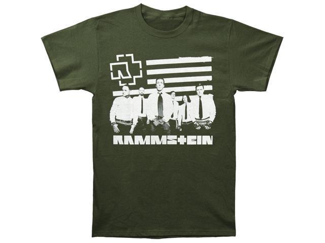 rammstein men 39 s logo stripes t shirt small army. Black Bedroom Furniture Sets. Home Design Ideas